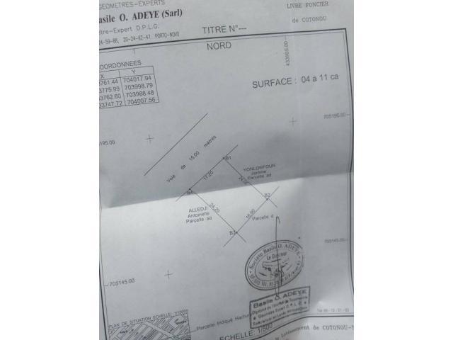 une parcelle à vendre à AGONTINKON, environs 50 mètres