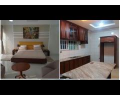 villa meublée avec piscine, sise dans la zone des Ambassades composée de trois chambres climatisées