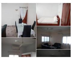 2 chambres un grand salon sanitaire meublée a Agla
