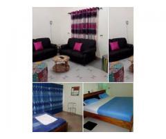des chambres meublés (entrée couché, une chambre salon, deux chambres