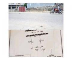 Parcelle de 325m² à fidjrossè plage au bord des pavés, recasée avec tous les papiers à jour.