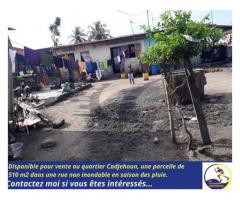 À vendre, 510 m2 À Cotonou au quartier Cadjehoun.