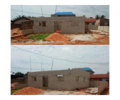 en vente une maison 2 chambres salon en finition dans Togoudo- gbegnigan proche des pavés