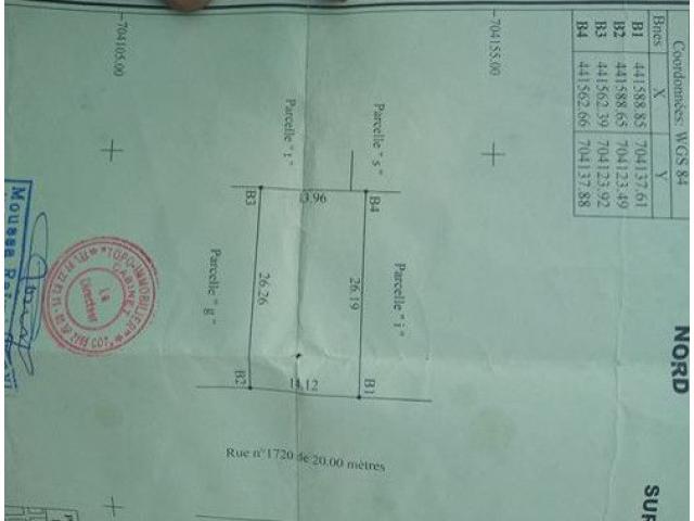 Parcelle a vendre a Akpakpa Tanto au bord du pavé face au siège ATAO