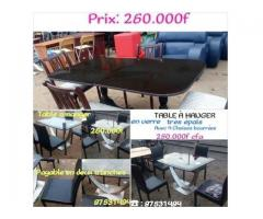 TABLE A MANGER AVEC 4 CHAISE A 260.000F (crédit possible) 260 000
