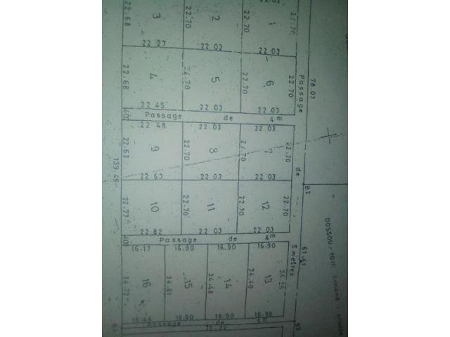 en vente des parcelles 100% sécurisées, lotis sur domaine titre foncier à Akassato