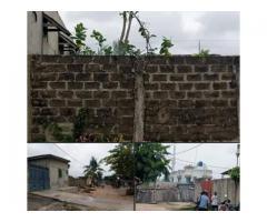 en vente à fidjrossè Une parcelles de 473m2 clôturé avec compteur d'électricité et l'eau