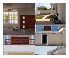 Villa duplex de 04 chambres salon sanitaire staffé haut Standing avec jardin
