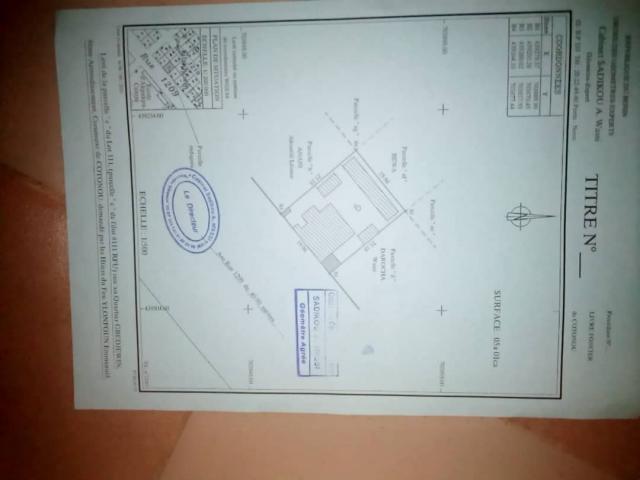 Maison locative a vendre d'urgence au coeur de la ville de Cotonou